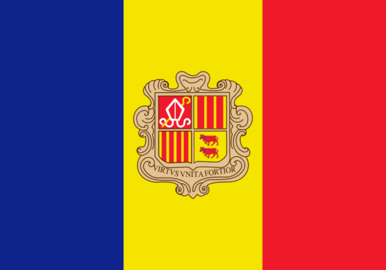 Flag of Andorra - Principality of Andorra - All Flags ORG