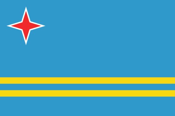 Flag of Aruba - (Self-governing country in the Kingdom of the Netherlands) - All Flags ORG