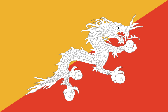 Flag of Bhutan - Kingdom of Bhutan - All Flags ORG