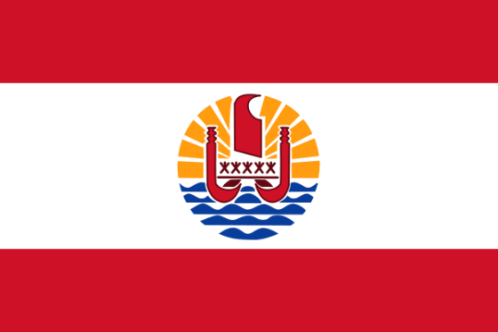 Flag of French Polynesia - (French overseas collectivity) - All Flags ORG