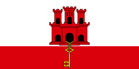 Flag of Gibraltar - (UK overseas territory) - All Flags ORG