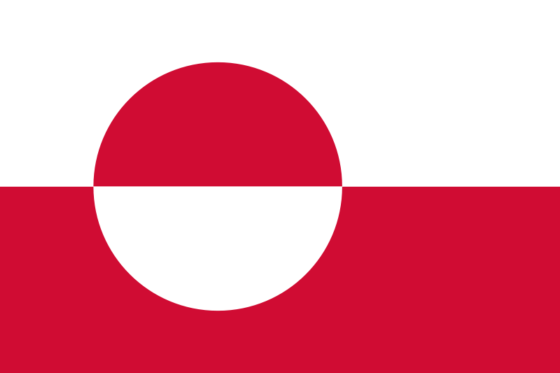 Flag of Greenland - (Self-governing country in the Kingdom of Denmark) - All Flags ORG