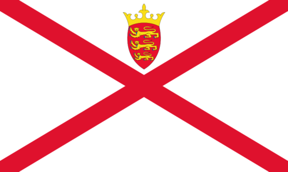 Flag of Jersey - Bailiwick of Jersey (British Crown dependency) - All Flags ORG