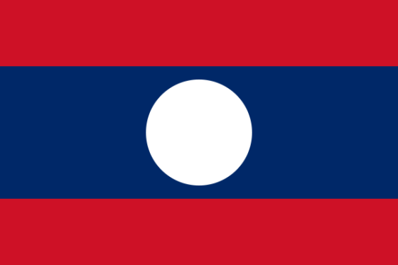 Flag of Laos - Lao People's Democratic Republic- All Flags ORG