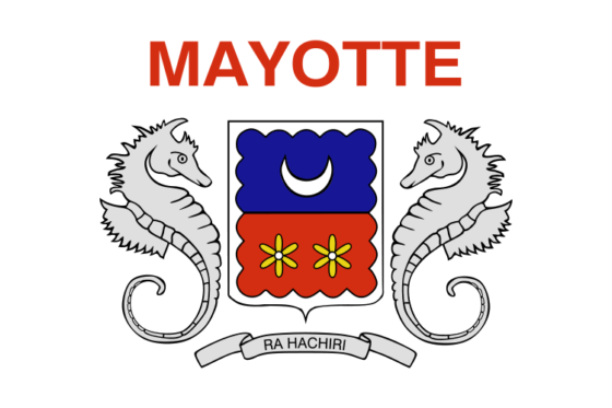 Flag of Mayotte - Departmental Collectivity of Mayotte (French overseas collectivity) - All Flags ORG