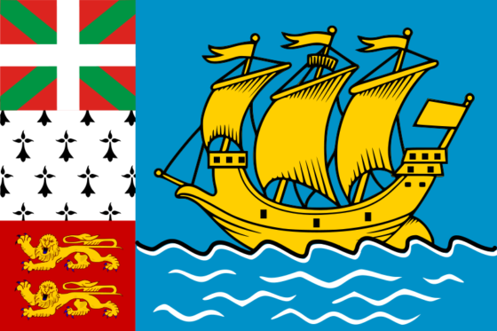 Flag of Saint Pierre and Miquelon - Territorial Collectivity of Saint Pierre and Miquelon (French overseas collectivity) - All Flags ORG