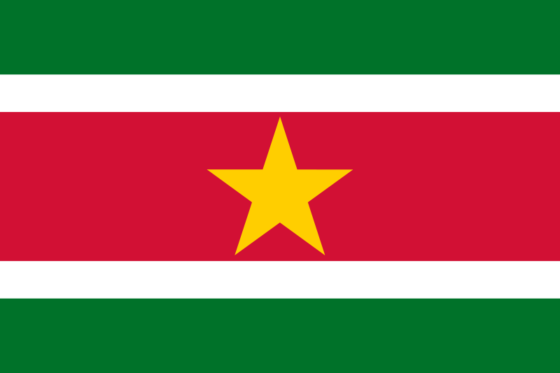 Flag of Suriname - Republic of Suriname - All Flags ORG