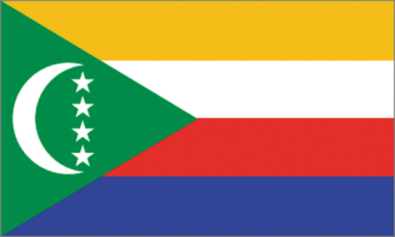 Flag of the Comoros - Union of the Comoros - All Flags ORG