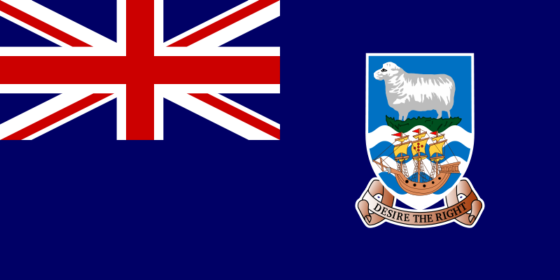 Flag of the Falkland Islands - (UK overseas territory) - All Flags ORG