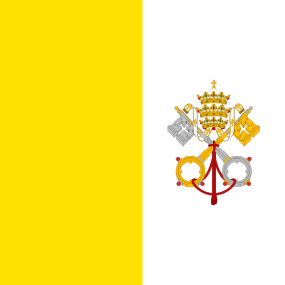 Flag of the Vatican City - State of the Vatican City - All Flags ORG